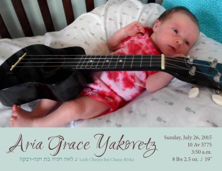 Aria Grace, born 7/26